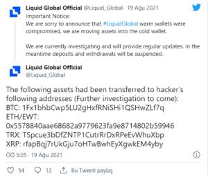 Liquid Tweet Bay Bilen Kripto Haber